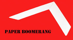 How Do You Make A Paper Boomerang - how to make a easy paper boomerang that comes back to you