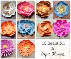 10 beautiful 3d paper flowers crafts pinterest 3d paper