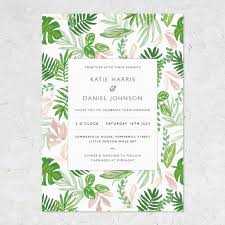 wedding invitations greenery greenery wedding invitations patterned by studio