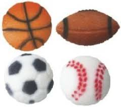 sports cake toppers edible cake cupcake decorations sports sports edible sugar
