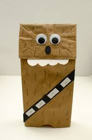 chewbacca paper bag puppet 11 library star wars day pinterest