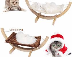 new cat bed cotton pet hammock for pure wooden cat nest breathable