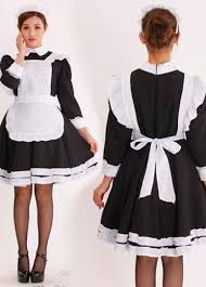 French Maid Halloween Costumes Girls Long Sleeve French Maid Costume