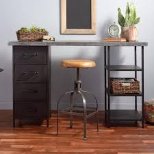 Desk With Top Shelf Metal Top Craft Height Colton Mix U0026 Match Desk With Shelf And