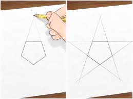 Draw A Radius On A Map How To Draw A Perfect Star 13 Steps With Pictures Wikihow