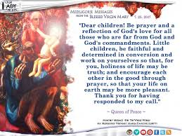 thanksgiving prayer to mother mary our lady prays u2013 36th anniversary medjugorje message from the