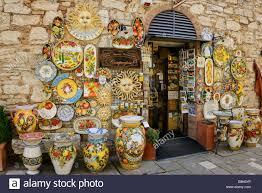 bagno shop souvenir shop in bagno vignoni stock photo royalty free image