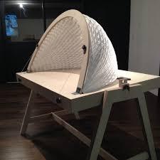 origami table folding tyvek dome paris design week 2015