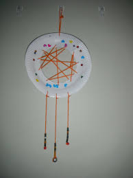 kids craft u2013 paper plate dream catcher cook craft cope