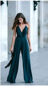 jumpsuit dress romper clothes forest green green palazzo