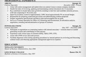 Contract Specialist Resume Sample resume for government contract specialist reentrycorps