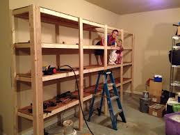 Build A Wood Shelving Unit by How To Build Sturdy Garage Shelves Home Improvement Stack