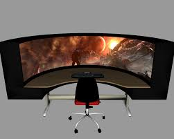 Console Gaming Desk by Best Unusual Awesome Gaming Desks 2749