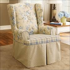 Armchair Slip Cover Furniture Wingback Loveseat Slipcover Oversized Wingback Chair