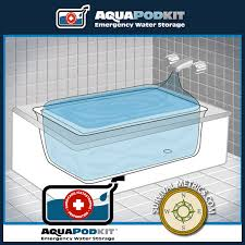 Bathtub Water Bladder Aquapodkit Emergency Water Reservoir U0026 Pump For Bathtubs
