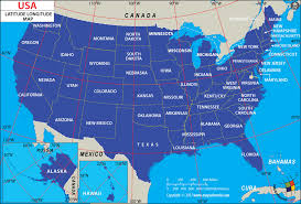 latitude map map of usa with longitude and latitude lines cities new usa