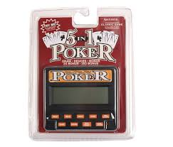 amazon com classic 5 in 1 poker electronic games toys u0026 games