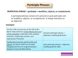 adjective phrase participle u2013 lesson plan munawarunnisa nazneen