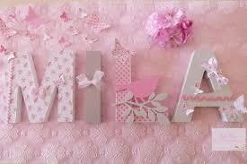 lettres pour chambre bébé lettres en bois prénom mila theme liberty en lettres de 12cm