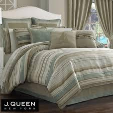 New York Bed Set Newport Stripe Comforter Bedding By J New York