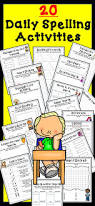 spelling activities for any words 20 activities spelling