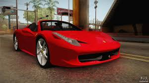 ferrari 458 back ferrari 458 spider for gta san andreas