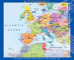 Europe World Map by Worldatlas West Europe