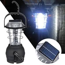 hand crank led light outdoor portable solar charger 36 led cing lantern rechargeable