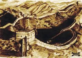sketch great wall of china by gniygniy on deviantart