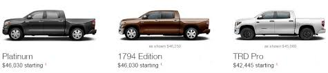 toyota tacoma trim packages differences in 2016 toyota tundra trim levels and prices
