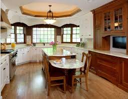 incorporating seating into a kitchen island normandy remodeling