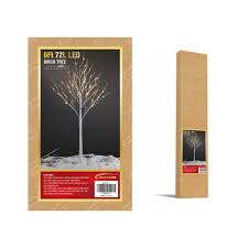 amazon com lightshare 6 feet lighted birch tree 72 led lights