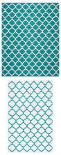 Turquoise Outdoor Rug Becca Teal Tile Reversible Indoor Outdoor Rug Everything Turquoise
