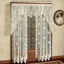 Lace Curtain Floral Lace Window Treatment