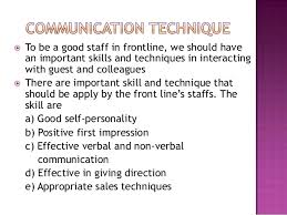 Qualities Of A Front Desk Officer Chapter 3 Front Office Pratice