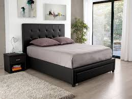 chambre avec lit noir lit lit 140x190 avec rangement fantastique draw cadre lit 140x190