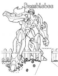 printable transformers bumblebee coloring pages printable