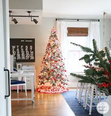 flocked christmas tree inspired by charm