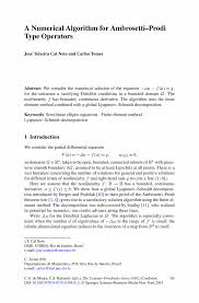 a numerical algorithm for ambrosetti u2013prodi type operators springer