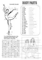 english worksheets body parts worksheets page 21