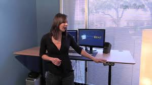 review geekdesk max stand up desk youtube