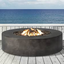 Concrete Firepits Livingsourceinternational Santiago Concrete Propane Pit Table
