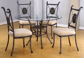 round glass dining table with metal base room glass table chairs
