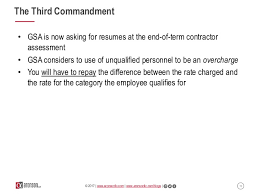 ten resume writing commandments webinar the ten commandments of gsa schedule compliance