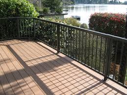 Deck Handrail Rainier Fencing U0026 Decking Deck Railing Installation For Kent Wa