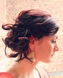 updos for curly hair i can do myself messy side bun for short hair ma nouvelle mode