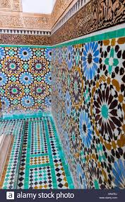 marrakesh morocco geometric designs in mosaic tile work zellij