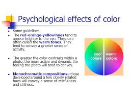 psychological effects of color digital photography principles of light and color ppt download