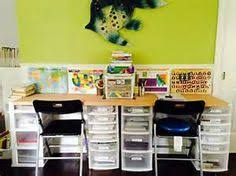 ikea expedit shelving and desk ideas for homeschool room