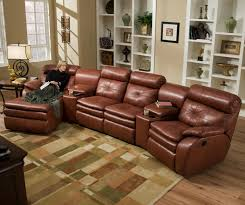 Leather Motion Sectional Sofa Leather Sectional Sofa With Power Recliner Sectionals Sofas Softy